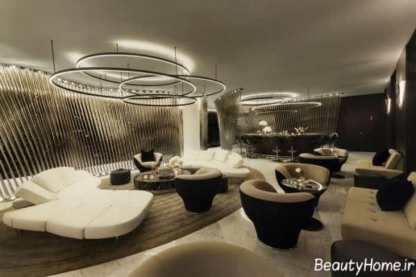 دکوراسیون لابی هتل شیک و زیبا