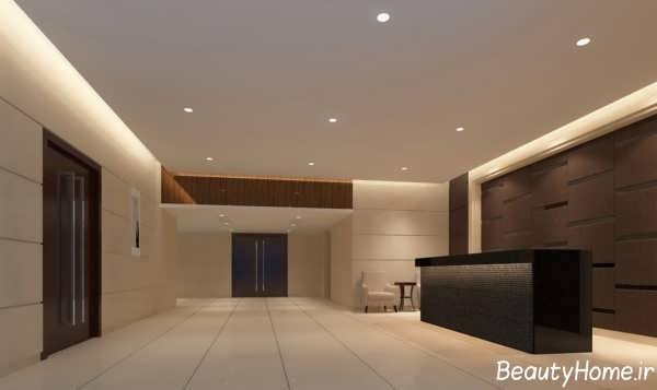 طراحی دکوراسیون پذیرش هتل