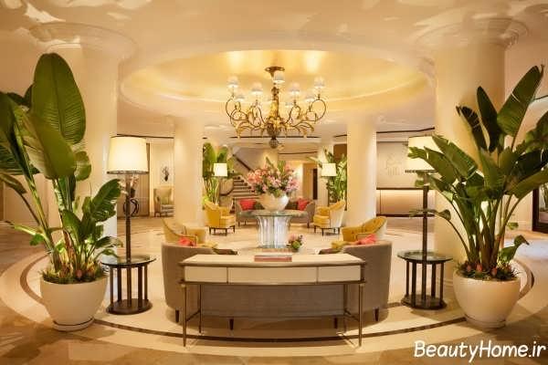 دکوراسیون زیبا و بی نظیر لابی هتل