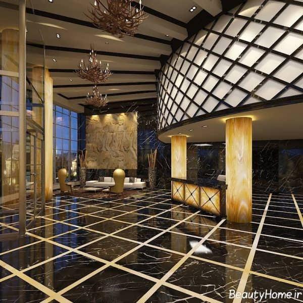 دکوراسیون داخلی هتل شیک و مدرن