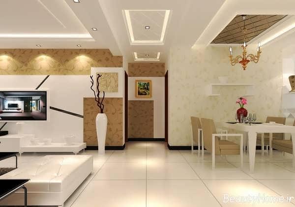 مدل کناف سقف و دیوار با طراحی زیبا و متفاوت