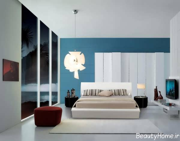 مدل اتاق خواب زیبا با طراحی دکوراسیون مدرن