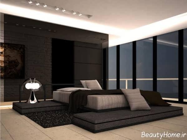 مدل اتاق خواب مدرن با دکوراسیون قهوه ای