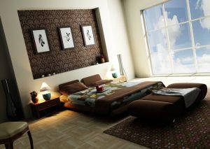 مدل اتاق خواب مدرن با دکوراسیون داخلی شیک و کاربردی