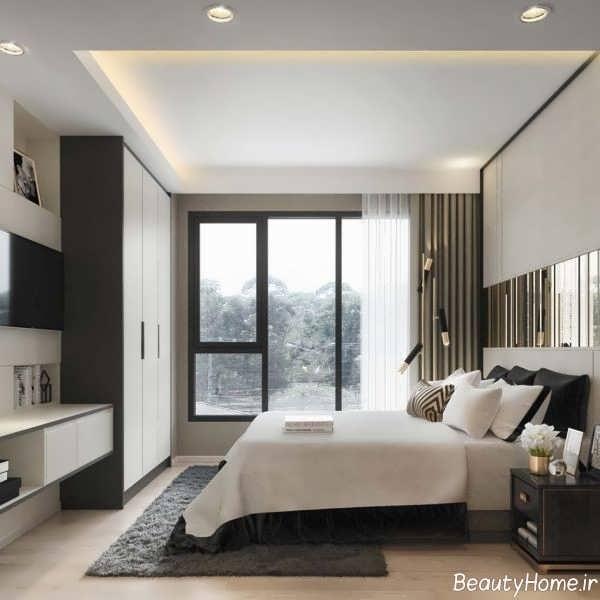مدل اتاق خواب مدرن با دکوراسیون شیک