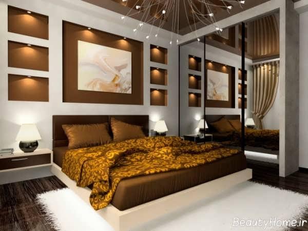 دکوراسیون قهوه ای اتاق خواب