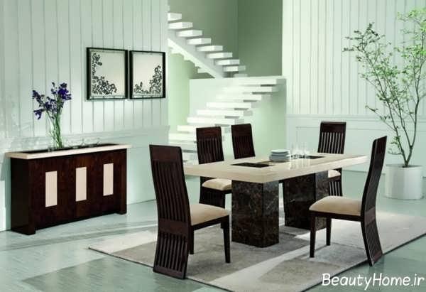 مدل میز ناهار حوری مدرن و چوبی