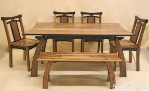 مدل مدرن و جدید میز ناهار خوری