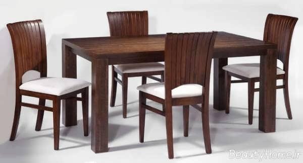 مدل میز ناهار خوری با طرح چوبی
