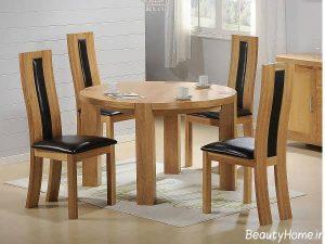 میز ناهار خوری 4 نفره چوبی