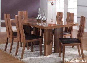 مدل میز ناهار خوری چوبی شیک و جذاب