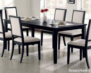 مدل میز ناهار خوری مدرن چوبی