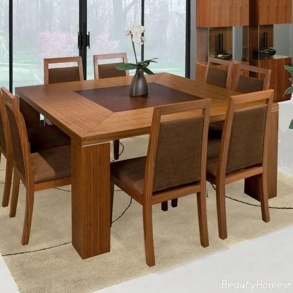 میز ناهار خوری چوبی و شیک