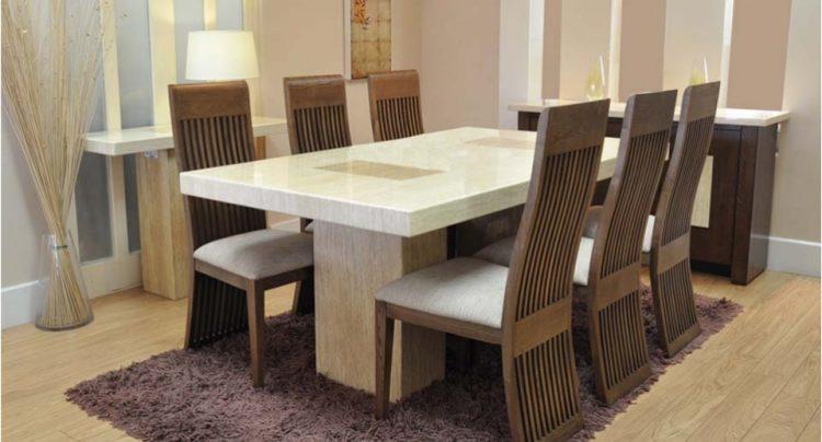 مدل میز ناهار خوری چوبی با طرح شیک و زیبا
