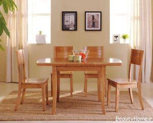 مدل زیبا و متفاوت میز ناهار خوری