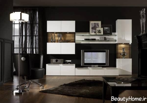 مدل میز تلویزیون سفید و شیک