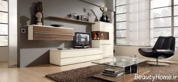 مدل میز تلویزیون شیک و زیبا دیواری