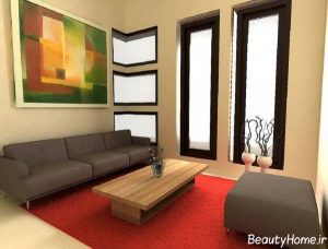 طراحی داخلی ساده پذیرایی