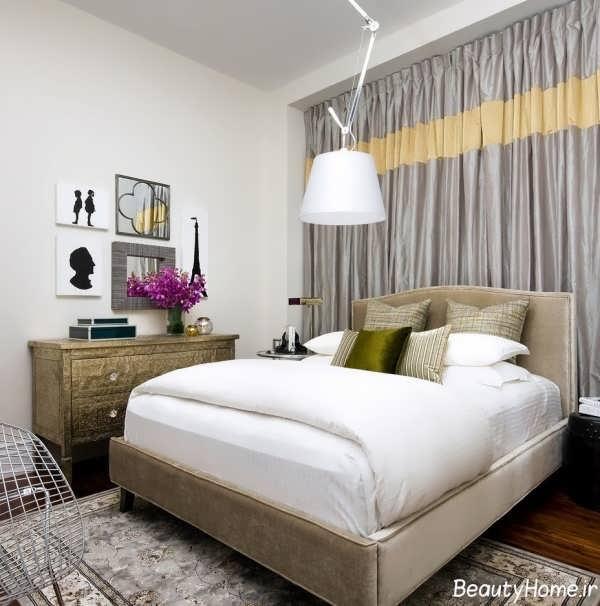 دکوراسیون داخلی زیبا و متفاوت اتاق خواب کوچک