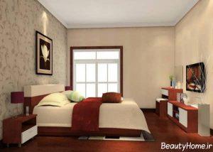 طراحی داخلی شیک و مدرن اتاق خواب های کوچک