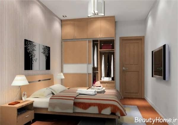 دکوراسیون داخلی زیبا و کاربردی اتاق خواب های کوچک
