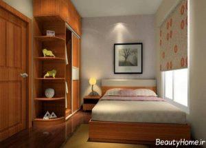 دکوراسیون زیبا و جذاب اتاق خواب کوچک