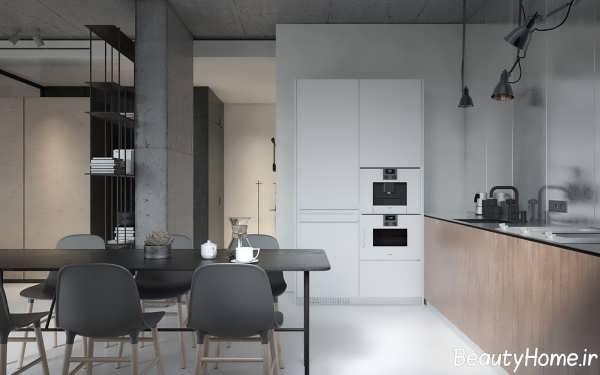 طراحی مدرن و زیبا خانه آپارتمانی