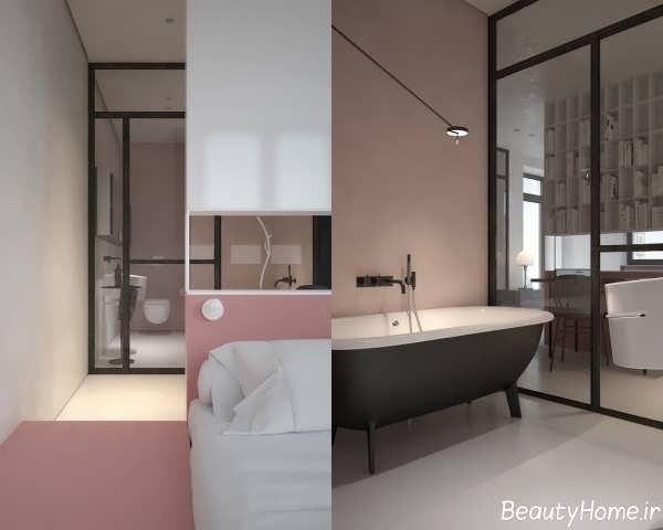 دکوراسیون شیک و زیبا خانه آپارتمانی یک خوابه