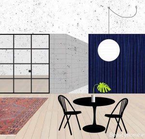 دیزاین دکوراسیون آپارتمان شیک و زیبا