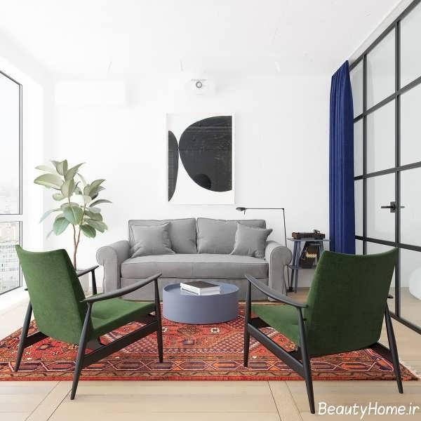 دکوراسیون شیک و بی نظیر آپارتمان کوچک