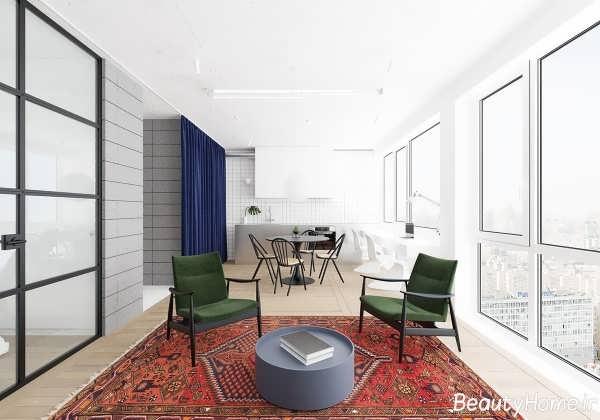 طراحی دکوراسیون اتاق نشیمن مدرن و زیبا