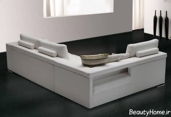 مدل مبل سفید با طراحی شیک و کاربردی