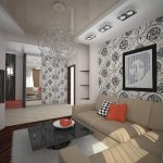 کاغذ دیواری برای پذیرایی با طرح شیک و مدرن