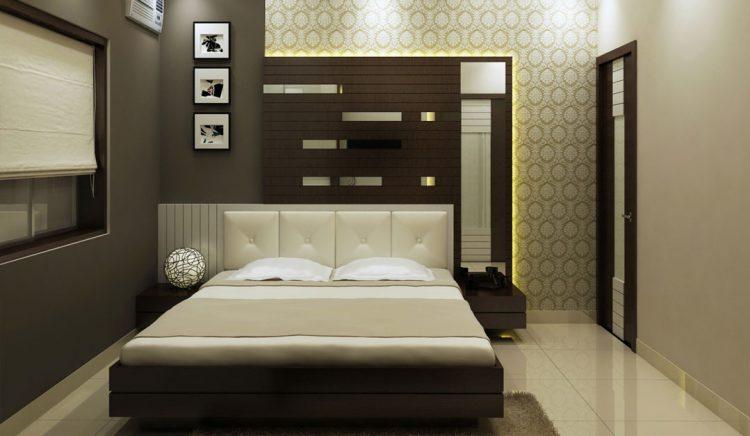 طراحی دکوراسیون اتاق خواب قهوه ای