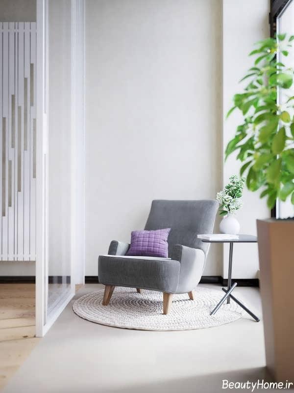 طراحی داخلی شیک و زیبا آپارتمان برای زوج های جوان