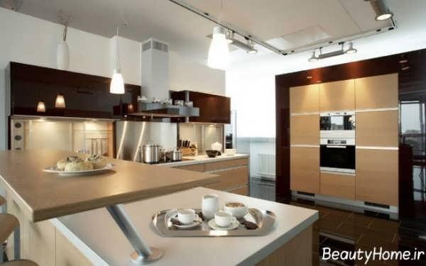 طراحی دکوراسیون شیک و کاربردی آشپزخانه