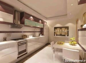 طراحی داخلی آشپزخانه ترک