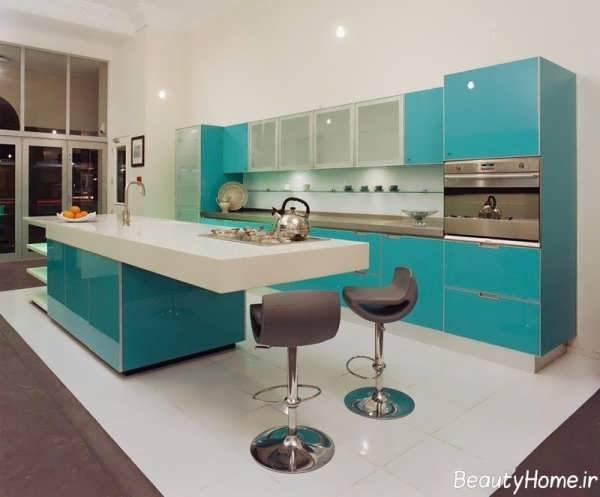 دکوراسیون سبز آشپزخانه ترکیه ای