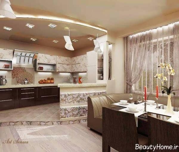 دکوراسیون شیک و مدرن آشپزخانه ترکیه ای