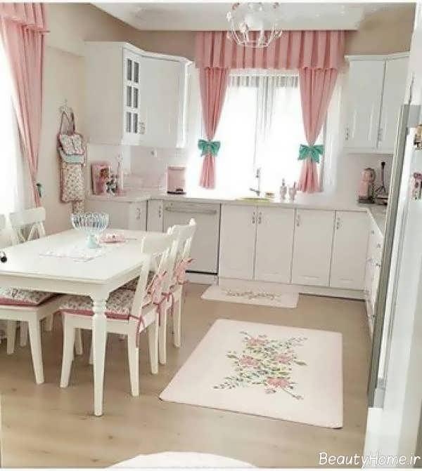 دکوراسیون سفید آشپزخانه ترکیه ای