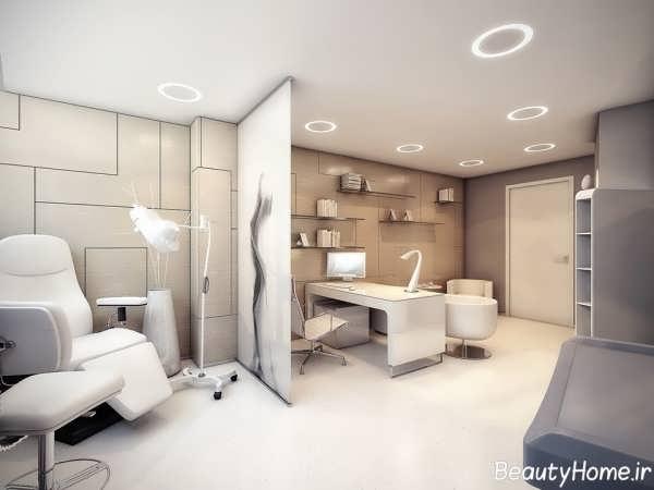 دکوراسیون داخلی شیک و مدرن مطب