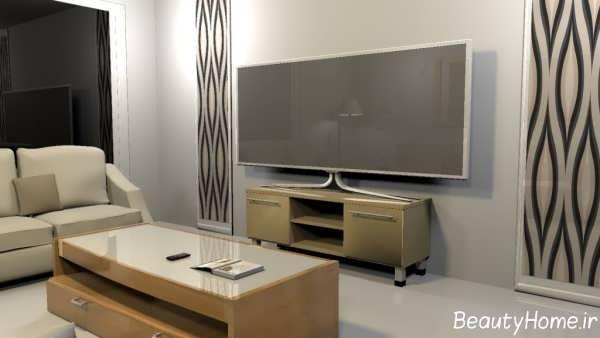 طراحی داخلی ساده و شیک سالن پذیرایی
