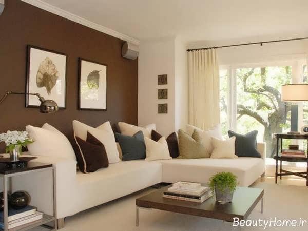 اتاق پذیرایی ساده با طراحی شیک و کاربردی