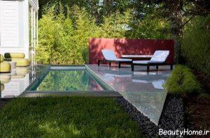 استخر زیبا و شیک برای حیاط خانه های ویلایی