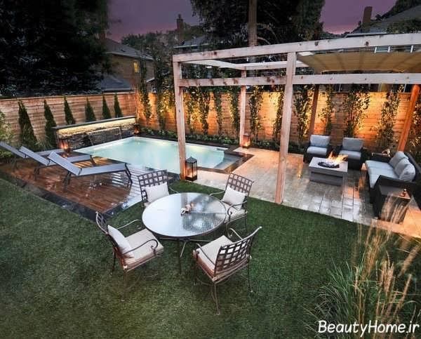 استخر شیک و زیبا برای حیاط خلوت خانه های ویلایی