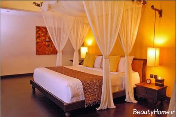 دکوراسیون رمانتیک اتاق خواب عروس