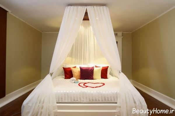 دکوراسیون سفید اتاق خواب عروس