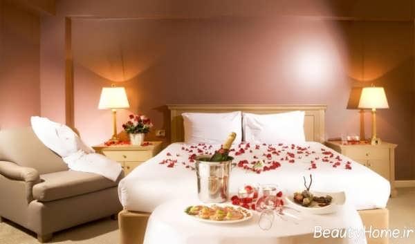 دکوراسیون رمانتیک و زیبا اتاق خواب عروس