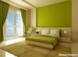 دکوراسیون سبز اتاق خواب عروس