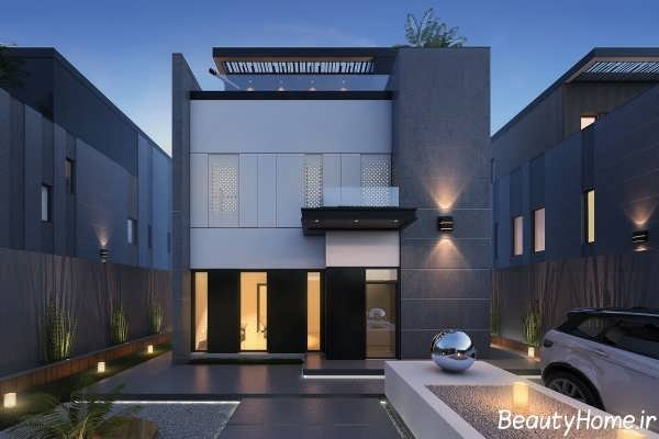 نمای زیبا و متفاوت ساختمان